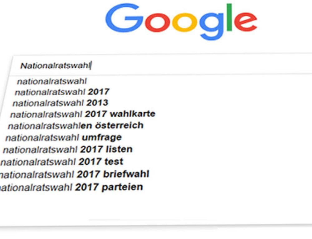 Google Jahresüberblick: Die häufigsten Suchbegriffe 2017 für Österreich