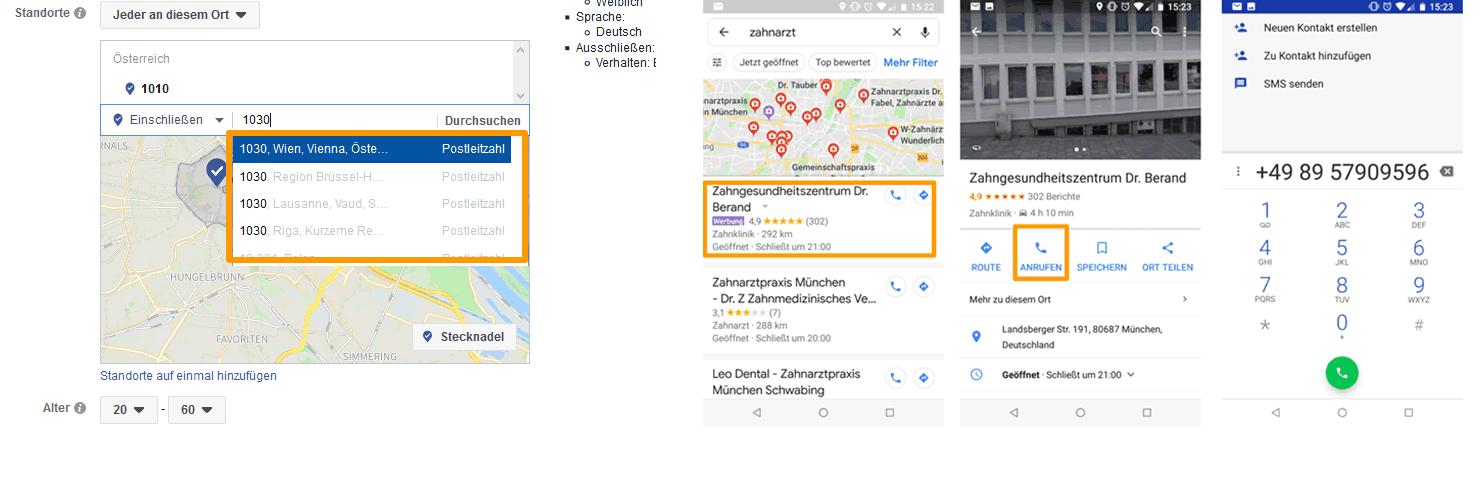 Targetierung mit Facebook und Google