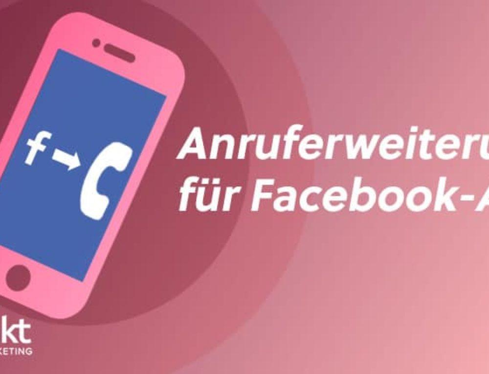 Facebook-Anzeige mit Facebook Anruferweiterung erstellen